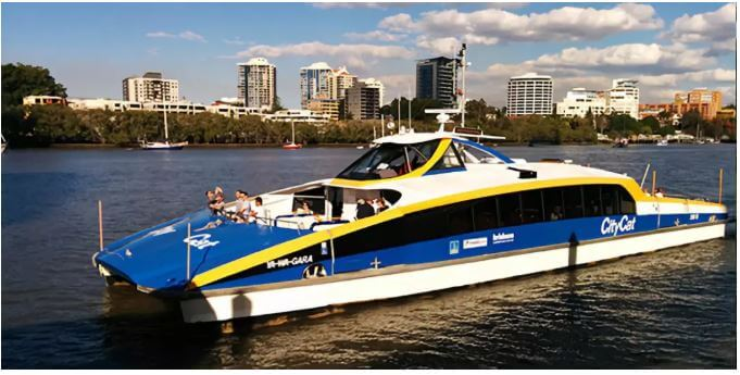 City Cat 渡船是布里斯班常见的公共交通工具