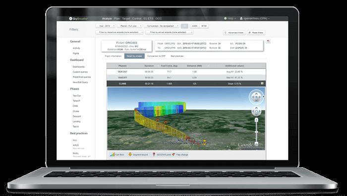 SkyBreathe Screenshot on a MacBook